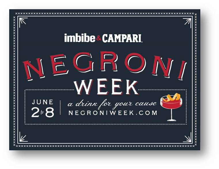 CT and RI Sign Up: Campari Negroni Week in June, Benefit Charities