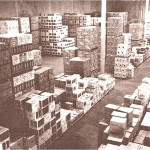 The view into the Browning Street warehouse in the late 1970s.