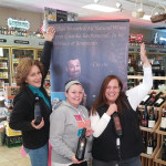 Wine fans Sharon, Mary and Edie at Gabel's Wine Shop in Branford on January 16, 2016.