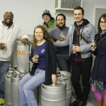 Members of the Rhode Island Brewing Society. Lamel Moore, Kate McPherson, Nate Ouellette, Chris Meringolo, Armando DeDona and Jessica DeBry.