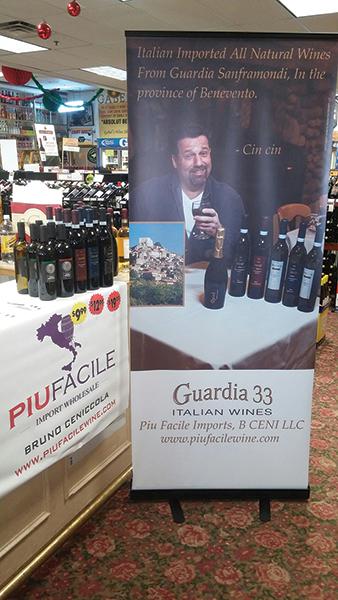 Piu Facile wines at Gabel's Wine Shop.
