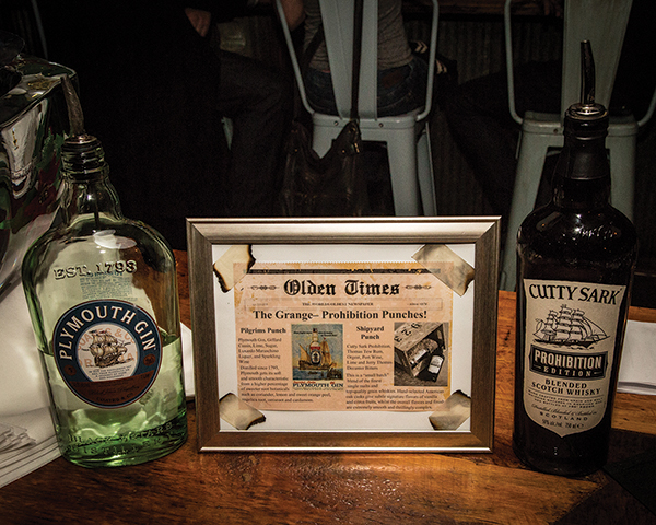 The Grange's spirit display.
