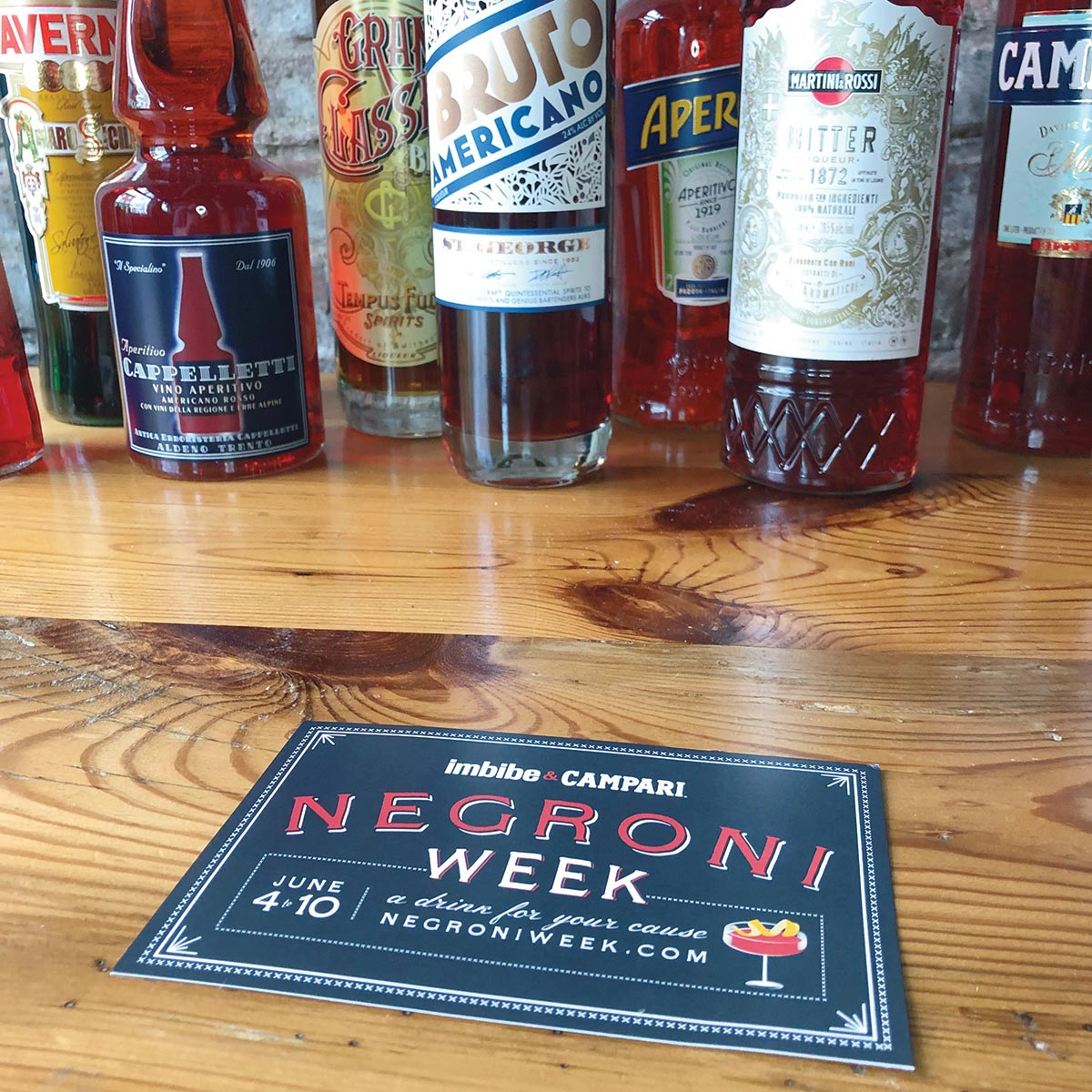 Annual Campari Negroni Week Raises Charitable Funds