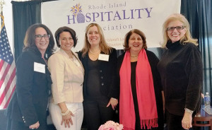 Lisa Mattiello, Director of Catering at Pranzi Catering & Events; Tracy Rabar, Guest Service Specialist, Instructor, Entrepreneur and Owner of Avenue N American Kitchen; Lisa Speidel, Owner of Persimmon Restaurant; Gail Ciampa, Food Editor, The Providence Journal; and Dale Venturini, President & CEO, RI Hospitality Association.