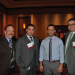 Frank Martucci, Twin River Casino; Bryan Abernante, Twin River Casino; Owen Thorpe, Sales Representative, M.S. Walker; and Michael Lester, On Premise Manager, M.S. Walker.