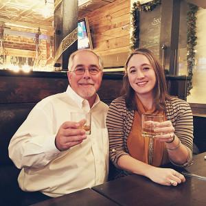 Rachel Hurvitz with Eddie Russell, Master Distiller of Wild Turkey.