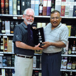 Ralph Rooke, Manager, Whyte & Mackay and Raj Modi, Owner, World of Beverages.