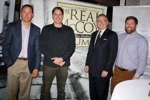 Paul Massey, VP of Sales, Real McCoy Spirits Corp.; Bailey Pryor, President and CEO, Real McCoy Spirits Corp.; Senator Andrew Maynard; Douglas Meaney, Sales Manager, Real McCoy Spirits Corp.