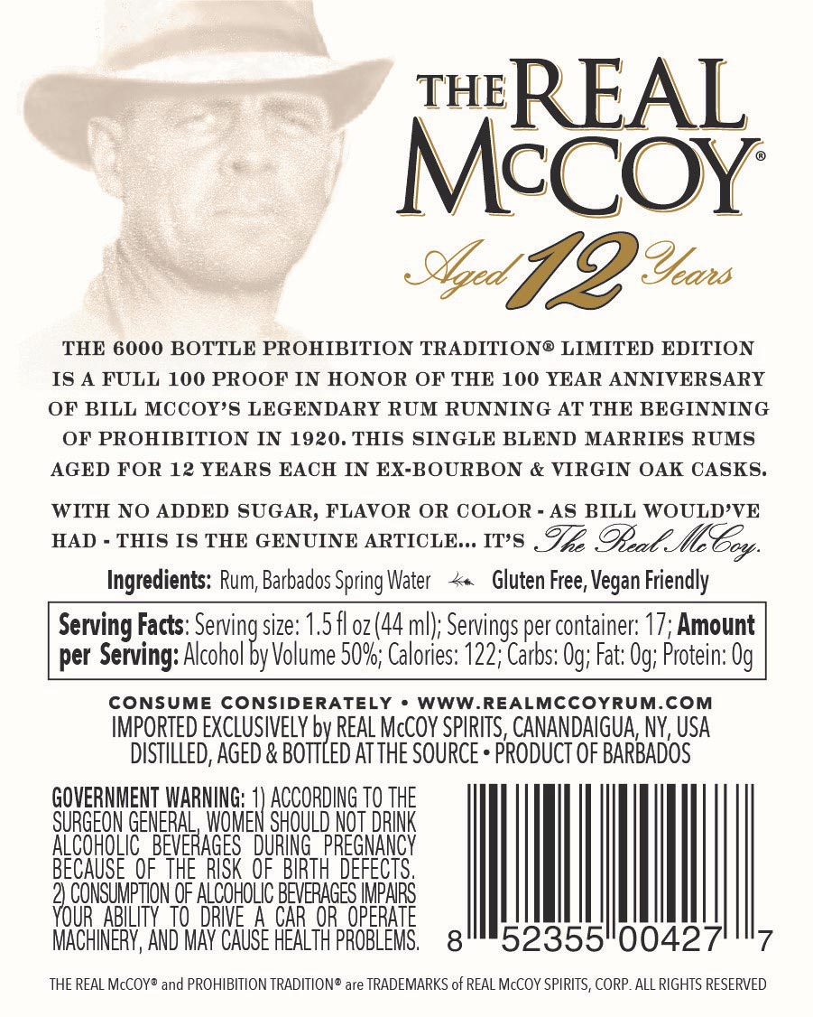 Supplier Side: Real McCoy Rum Marks a First in Labeling