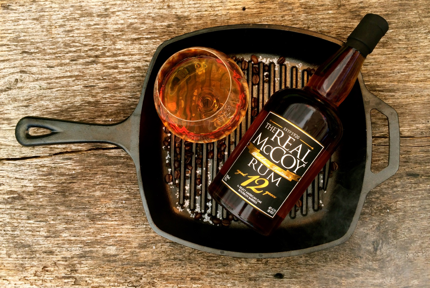 Connecticut's Real McCoy Rum Complements Glass and Grill