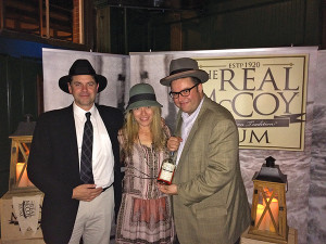 Left to right: Bailey Pryor, President and CEO of Real McCoy Spirits, Jennifer Pryor, Art Director for Real McCoy Spirits, and Michael Lester, On Premise Manager for MS Walker.