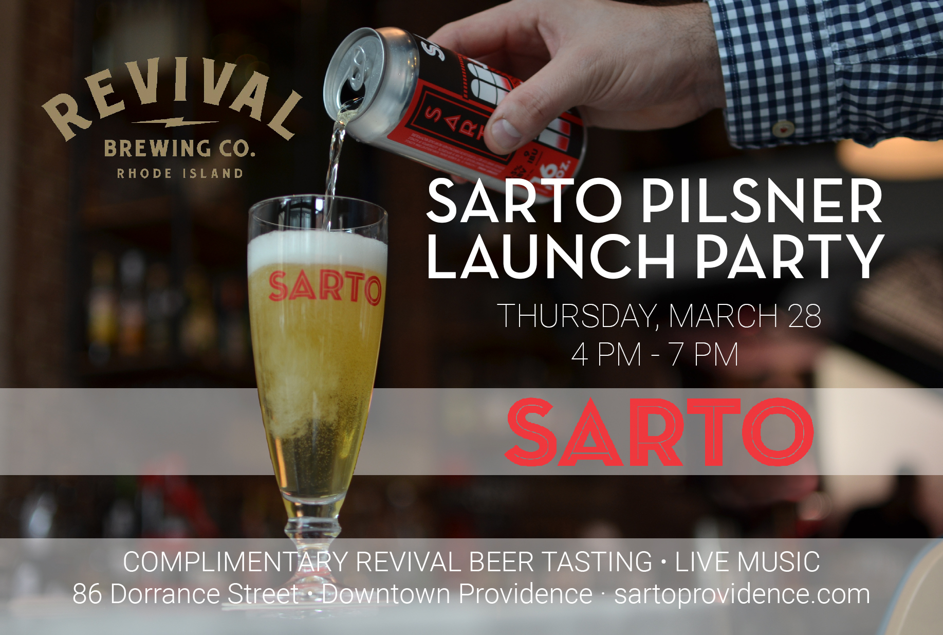 March 28, 2019: Sarto Pilsner Launch Party
