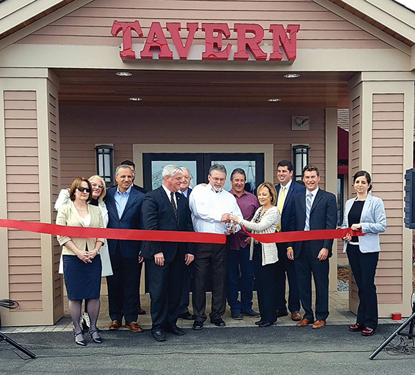 A ribbon cutting ceremony in April officially opened the new tavern.