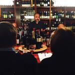 Bertocci addresses guests at Madison Wine Shop