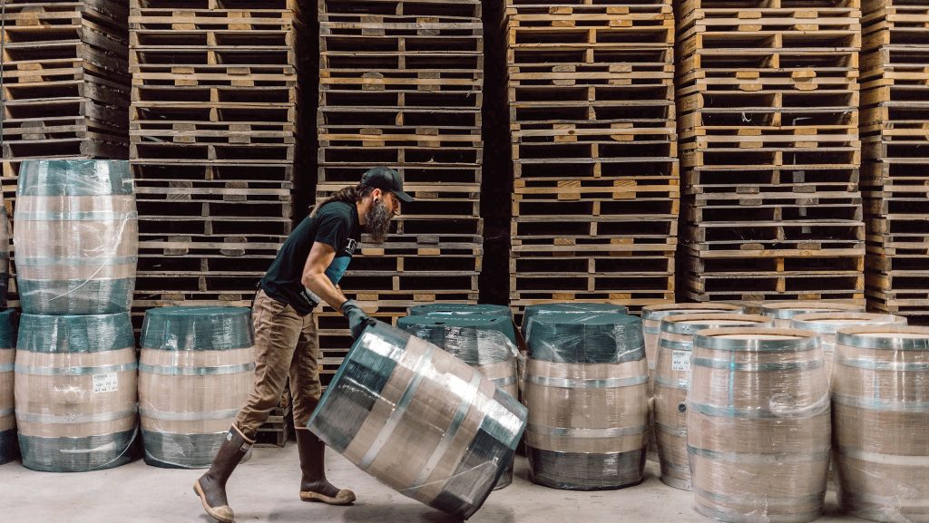 Readying barrels at Balcones Distilling in Waco, Texas. Photograph courtesy of Balcones Distilling
