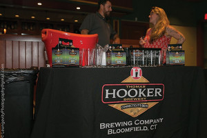 Thomas Hooker Brewery of Bloomfield featured its local beers.