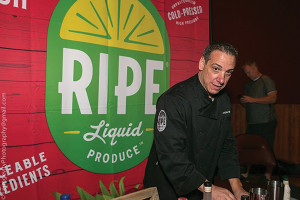 Mike Mills, Brand Ambassador, RIPE, showcased their all-natural bar juice line.