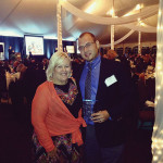 Sage Cellars' Owners Ann Sage and Jesse Sgro at the Providence Business News awards dinner.