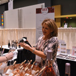 Patricia Lornell, Brand Ambassador, Off the Wine pouring Whispering Angel.