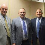 Daniel Hogan, Regional Sales, Wein-Bauer; Michael Schlink; Phil Belleviu, Sales Manager, Sterling Division, Brescome Barton.