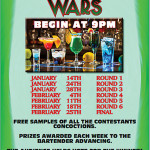 Cocktail Wars event and sponsor poster.