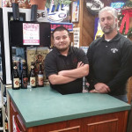 Steven Bilodeau with Pete Rodrigues, manager of Captain's Keg also in Stratford. The two worked together to make ShakesBeer a community success.