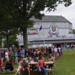 Over 1,000 people attended the summer craft beer festival. The Shakespeare Theatre is in the backrgound.