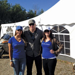Boston Bruins player Shawn Thornton stopped by the tailgate before heading into the game.