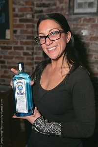 Stacey Lavoie of Main Street Grill and Bombay Sapphire Gin.