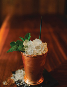 "The ""Kentucky Mulep"" cocktail at Statesman Tavern."
