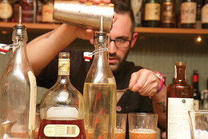 Carl Summa, USBG CT Chapter Vice President, Bar Manager at Main Street Grill, and The Cocktail Chemist partner, took second with The Chinese Connection. Photo by Stephanie Webster c/o CTbites.com.