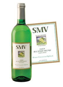 Sunset Meadows Vineyard 2013 Blustery Blend wine.