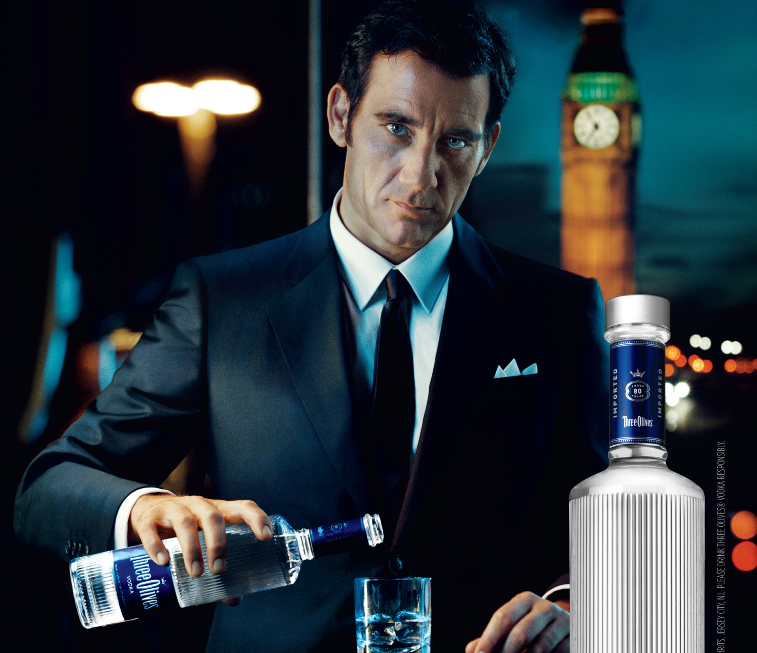 Three Olives Vodka New Campaign Features Clive Owen