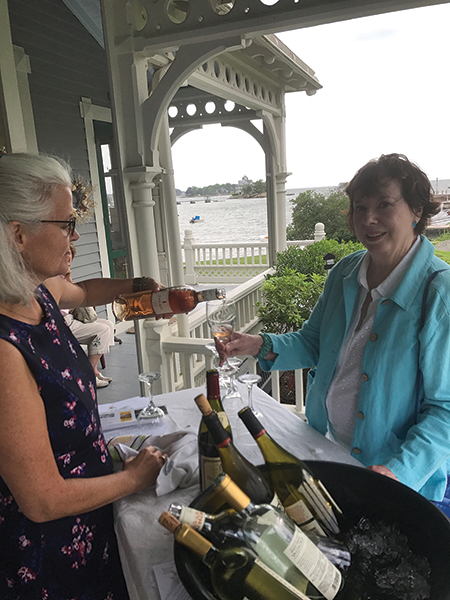 "Stacy Murray pours Tarani Gamay Rosé at the ""Wine by the Shore."""