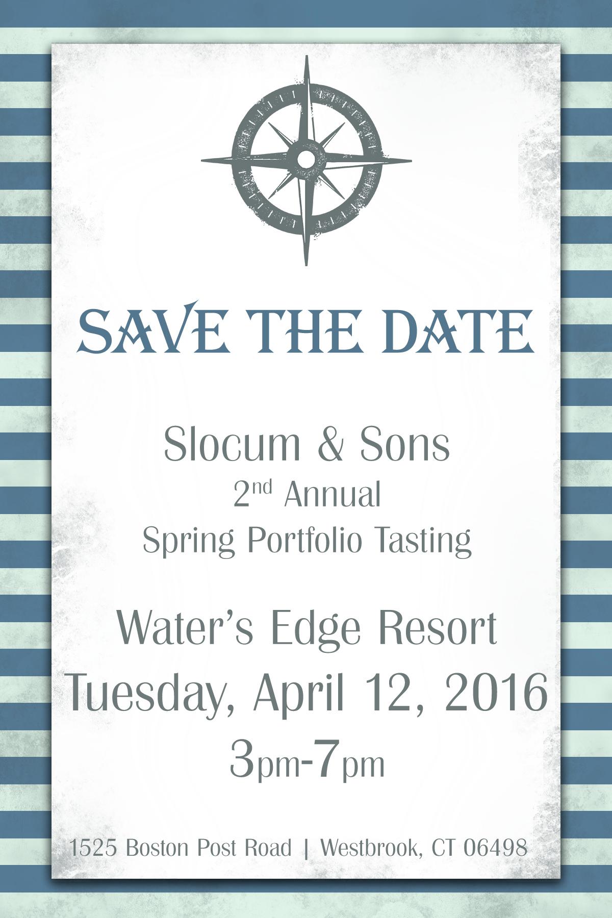 April 12, 2016: Trade Event/Slocum & Sons Spring Portfolio Tasting