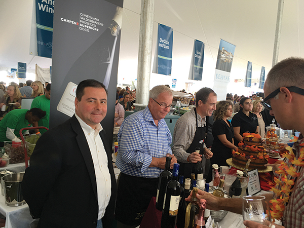 The Angelini Wines sales team during the festival, Glenn Augustine, Michael Dudeff and Paul Cullen.