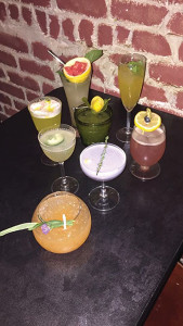 A selection of cocktails prepared by competitors at The Loft on August 8.