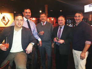 Matt Malloy, Tito's CT State Representative; Sean Butler, Sales Rep., Hartley and Parker; Paul Jaronko, District Manager, Hartley and Parker; Bob Bowe, Sales Rep., Hartley and Parker; and Steve Delmonico, Sales Rep., Hartley and Parker.