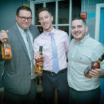 Mike Lester, On-Premise Manager, MS Walker; Matt Simmons, Ogie's Trailer Park and People's Choice Winner; Richard Fiorello, On-Premise Sales Manager, Heaven Hill.