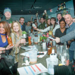 """Guests during """"The Derby,"""" held at Kai Bar, the first in a series of three Heaven Hill Triple Crown Bartending Competitions"""