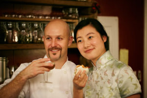 Owners Tyler Davenport and Manda Chen of Cheongsam Tea Liqueur.