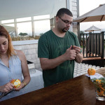 Katie Masterson of Boom Box and USBG RI Member Gabriel Rodriguez at Ocean Cliff with cocktails by Jeff Bell.