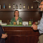 Inspired Beverages, Inc.'s Alexei Beratis, USBG RI Member Kayleigh Speck and National USBG President David Nepove at Public Kitchen & Bar, the first venue hosting USBG members. Four Roses Bourbon, Rhum Clément and Disaronno were sponsor spirits.