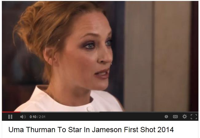 Uma Thurman Takes Lead in Jameson First Shot 2014