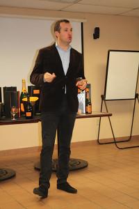 Pierre Casenave, Winemaker, during the Veuve Clicquot seminar.