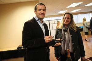 Pierre Casenave, Winemaker, Veuve Clicquot with Renee B. Allen, Founder and Director, Wine Institute of New England.
