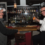 Twin River's Frank Martucci and Michael Lester of M.S. Walker at Vanity Supper Club. Photo by Chris Almeida.