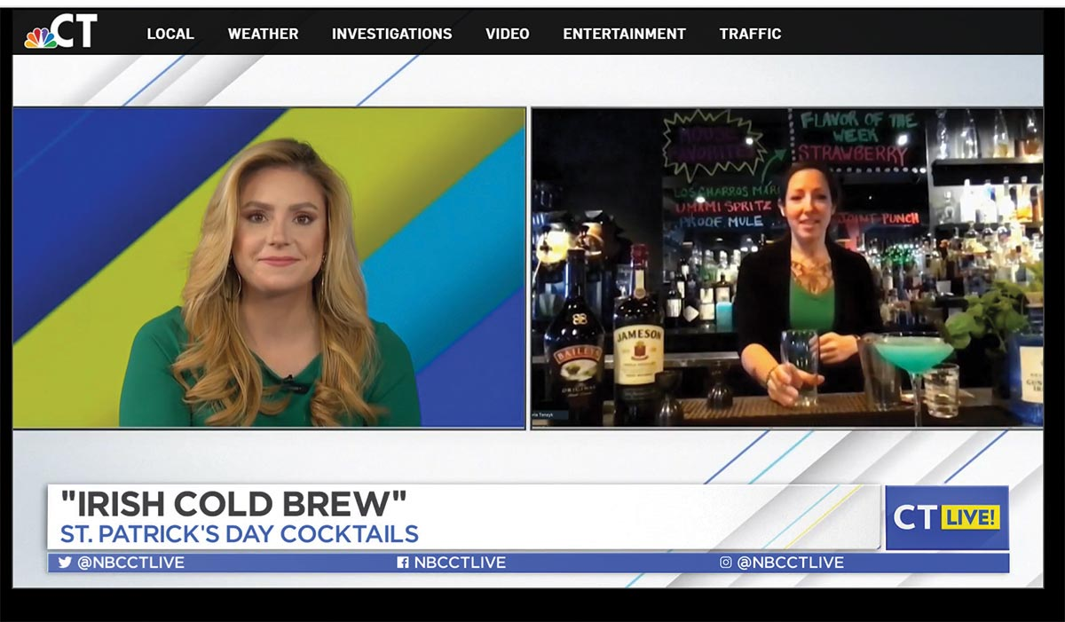 Bartenders Featured on Local News for St. Patrick's Day