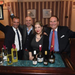 Luca Vincenzi, International Marketing Director and Andrea Vincenzi, President, both of Vincenzi Distillery; Amanda Schuster, Senior Editor at The Alcohol Professor, sponsor of the New York International Spirits Competition; Mike FitzPatrick, President of NCCGA of CT.
