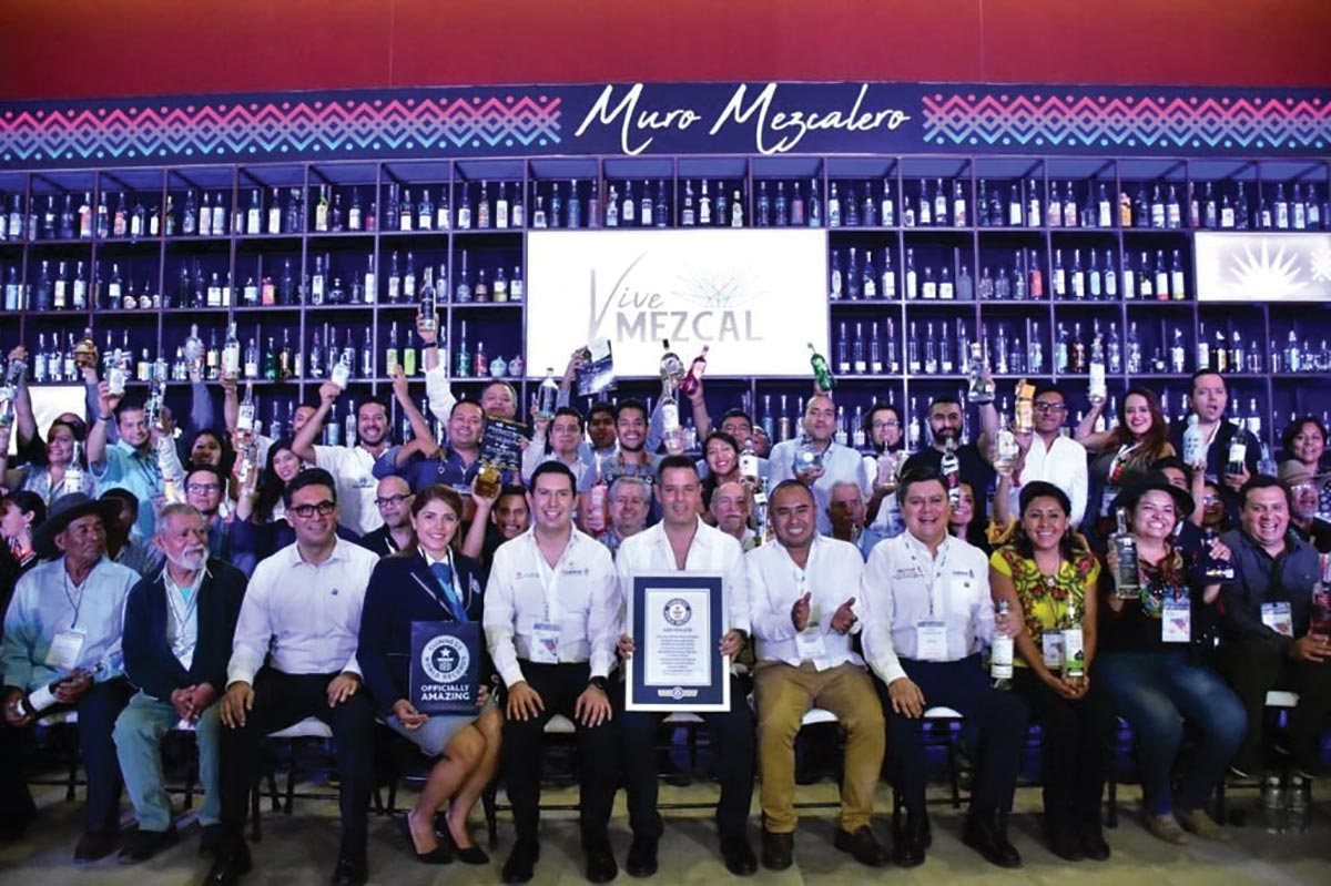 Oaxaca Wins Guinness World Record with Mezcal Wall Feat